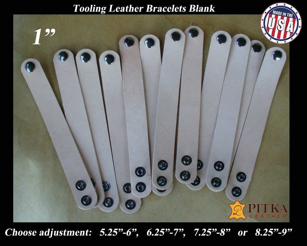 DIY craft 3//4 Inch Natural Leather Blanks for Bracelets Great for school camps