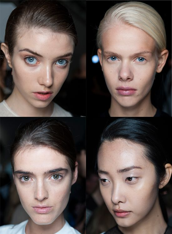 Equal to #McKnight's legendary status was make-up artist #ValGarland who brought an equally polished look to the make-up for #MariosSchwab #SS14'S show. #LFW #topshopsupport