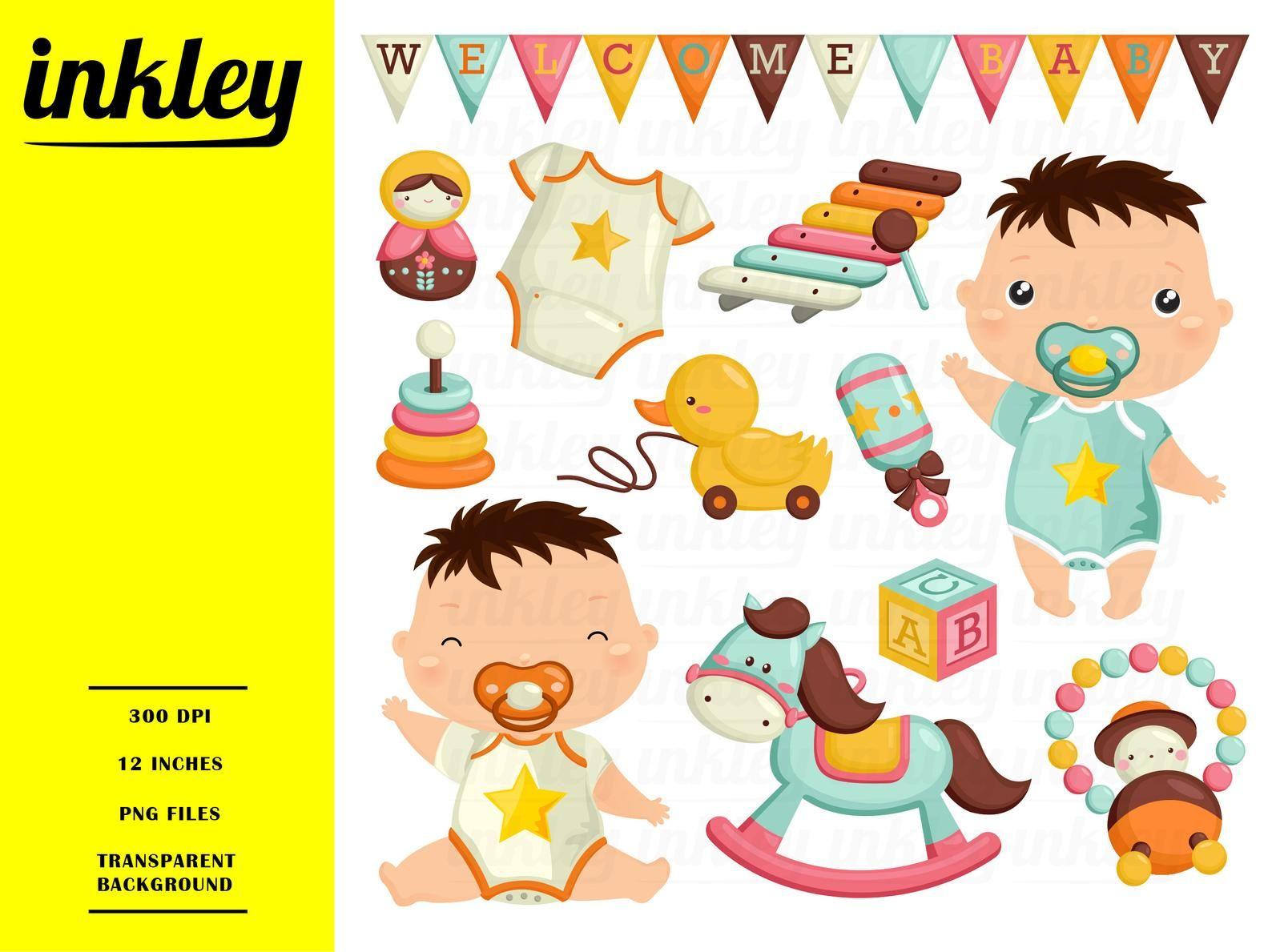 Baby Boy Clipart Cute Baby Clip Art Baby Toys Free Svg On Etsy Baby Clip Art Clip Art Baby Boy Toys