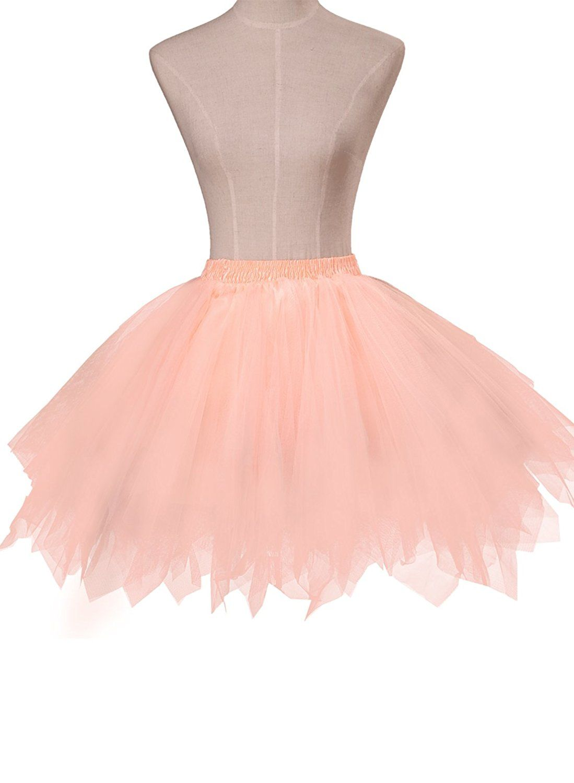 Amazon.com: emondora Women\'s Tutu Tulle Petticoat Ballet Bubble ...