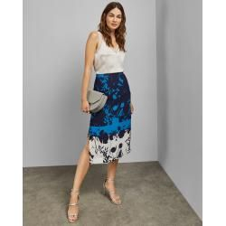 Photo of Side-slit midi skirt with bluebell print Ted BakerTed Baker