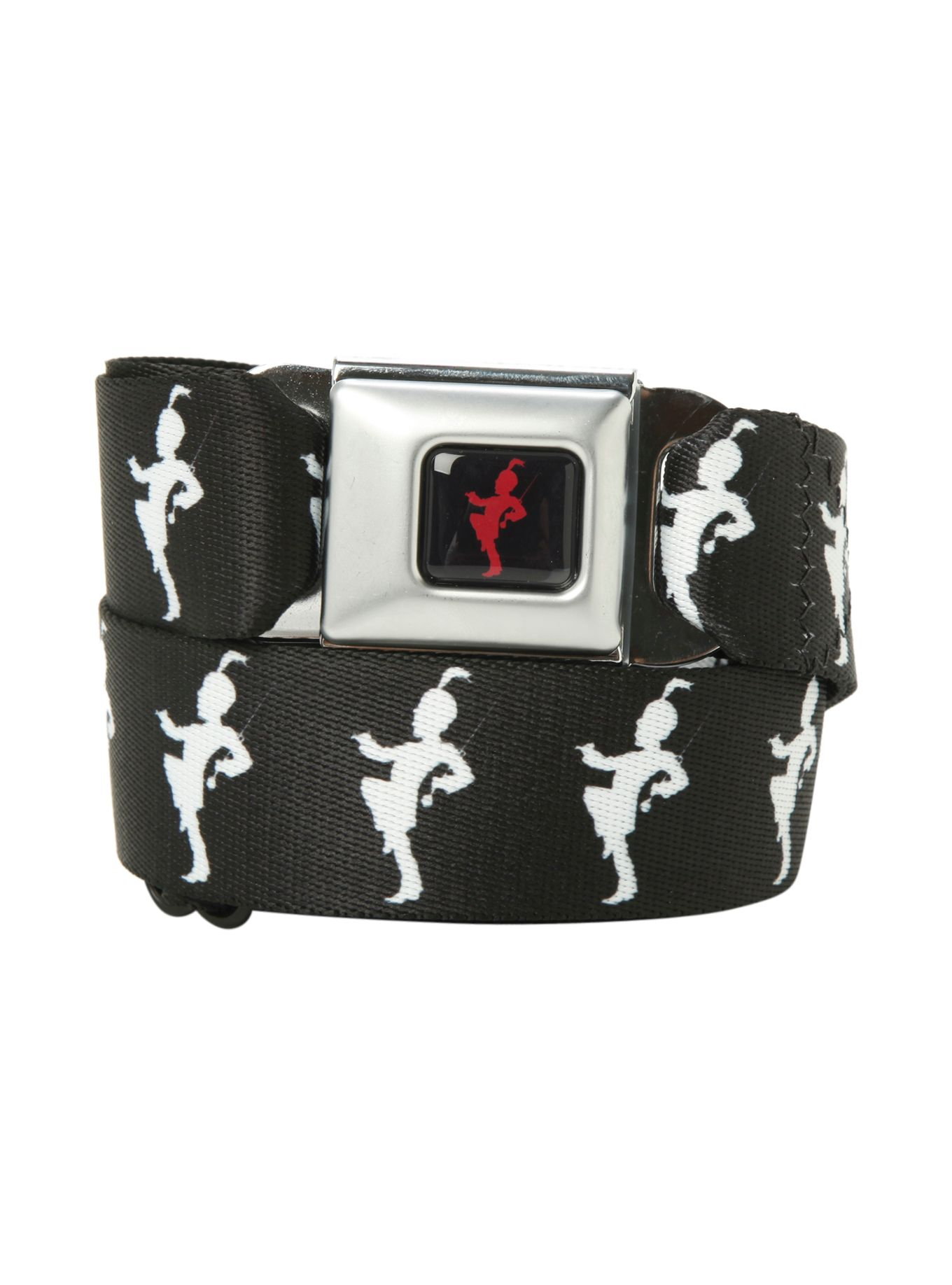 Buckle-Down Seatbelt Belt 1.5 Wide 24-38 Inches in Length Deathly Hallows Symbol Black//White