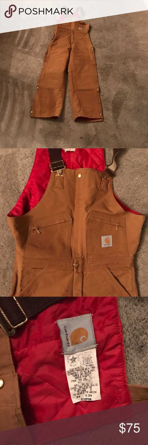 carhartt thermal insulated work overalls 34x34 work on insulated work overalls id=88397