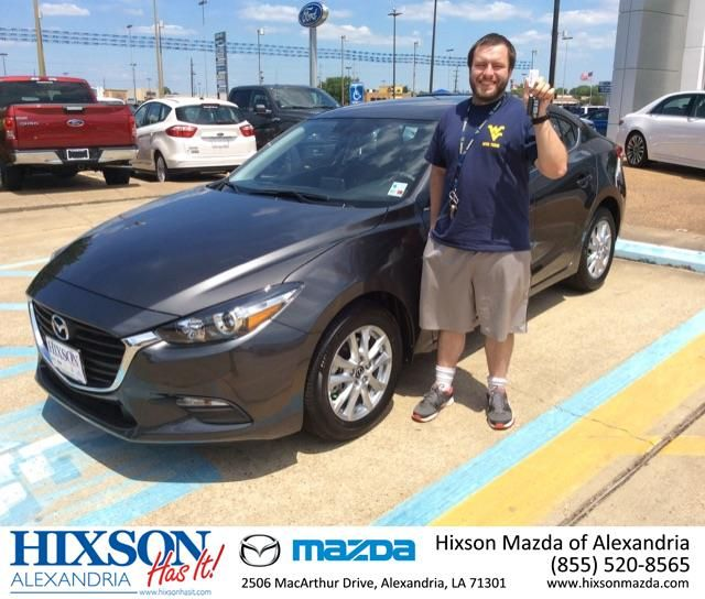 Congratulations to Casey Orndorff on his 2017 Mazda 3 Sport! Thanks from your Sales Consultant Joel Massey, 318-229-3282. #Hixson #Mazda #Mazda3 #Alexandria