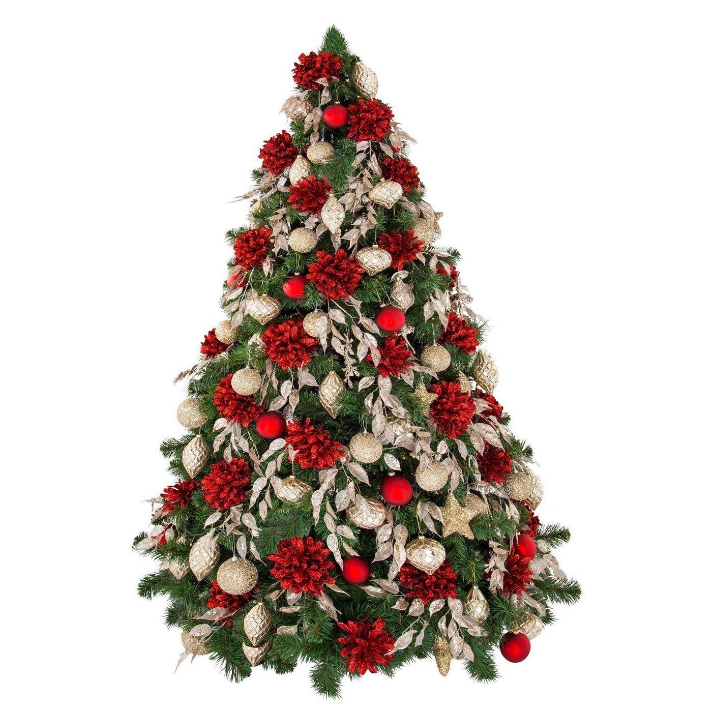 Zestaw Choinkowy Nr 56 Wyjatkowy Zestaw Ozdob Choinkowych W Ktorym Kroluja Wykwintne Lsniace Brokatem Czerwone Kwiaty Karmelowe Bombki Zdobione Mrozonymi Dro