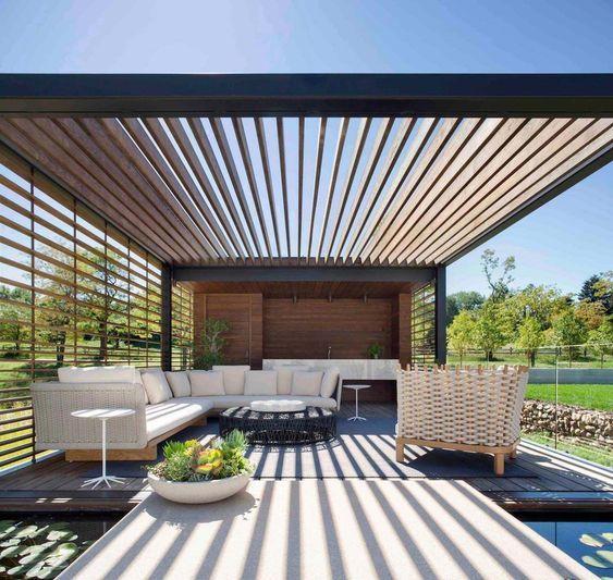 Tipos de cubiertas o p rgolas para la terraza o jard n - Tipos de toldos para patios ...