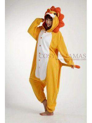 0d4234458b42 Fleece Lion Onesie Kigurumi Pajamas