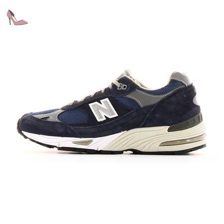 New Balance M991NV Sneaker Homme Bleu Bleu - Chaussures Baskets basses Homme