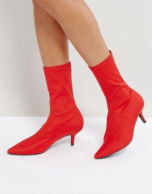 54e98d4ba71 Shoes Trend Alert    Sock booties ankle boots and kitten heels ...