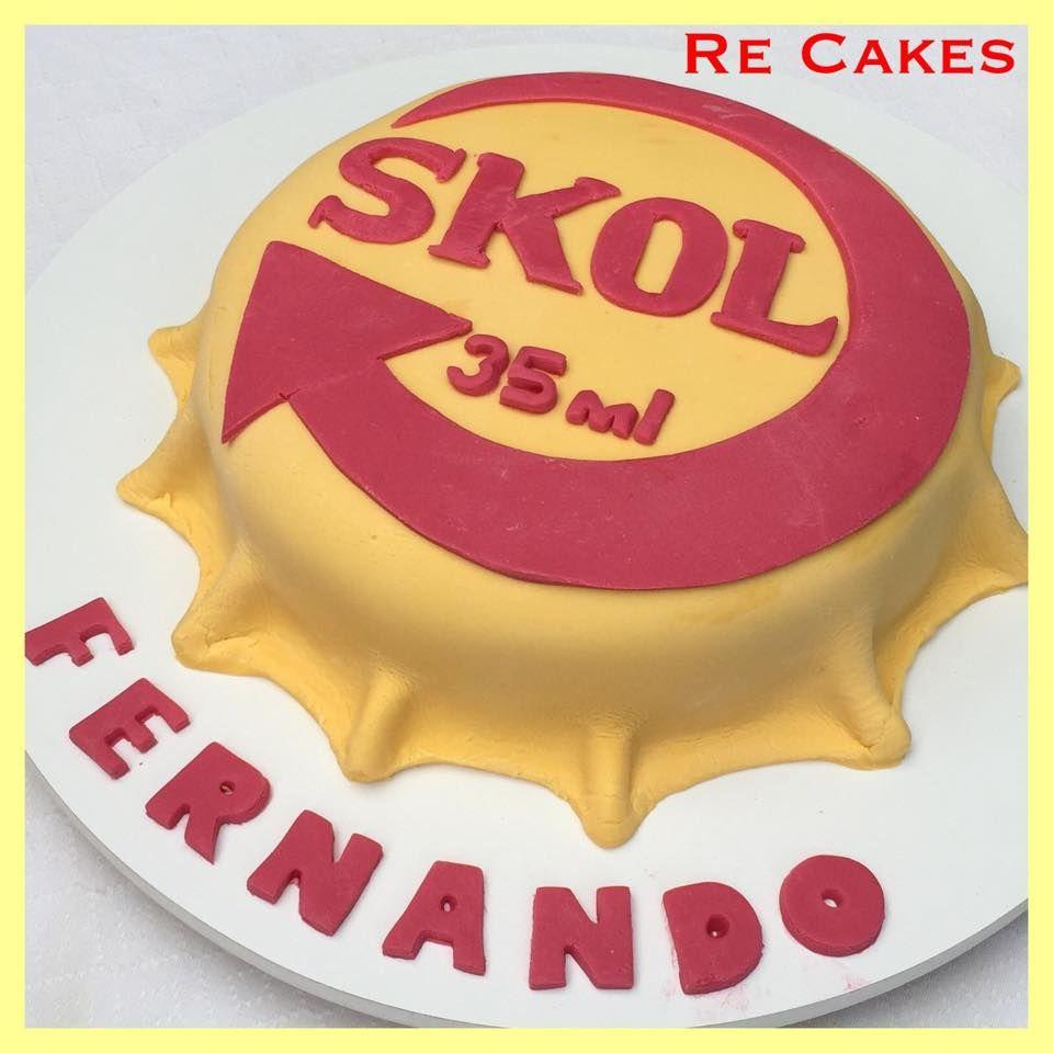 Amado Bolo tampinha de cerveja Skol | bolo | Pinterest | Pasta and Cake XH43