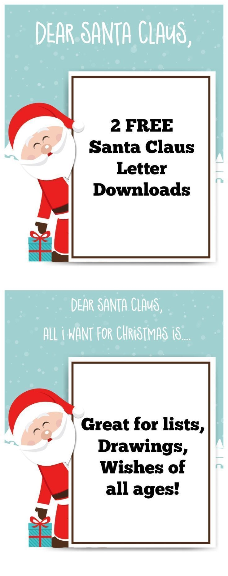 Santa Claus Letter: FREE PRINTABLE FOR KIDS -   DIY Arts and Crafts ...