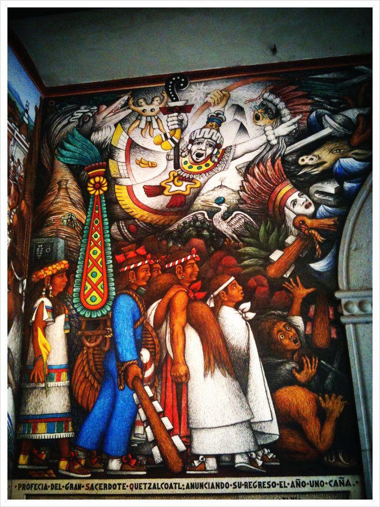 Mural en las calles de tlaxcala pinturas que expresan for Arte mural mexicano