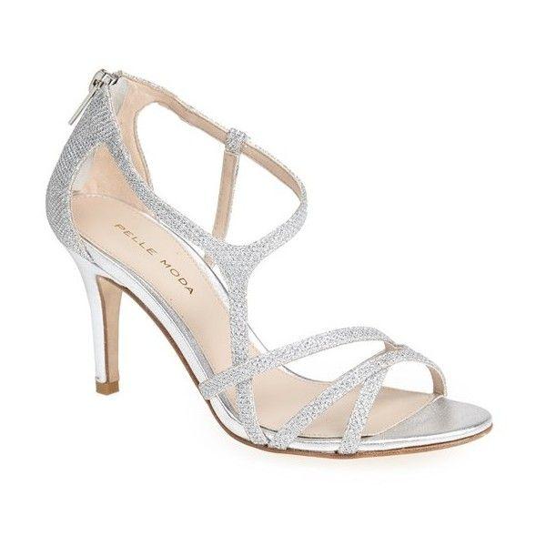 Pelle Moda Ruby Metallic Back Zip Strappy Dress Sandals spe9rWXDr