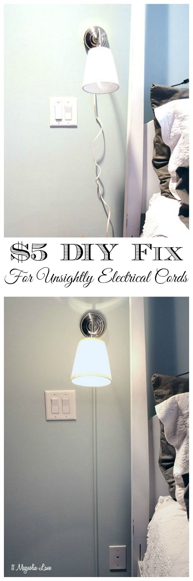 How To Hide Electrical Or Cable Cords 11 Magnolia Lane Hide Electrical Cords Hide Cords On Wall Hide Cables