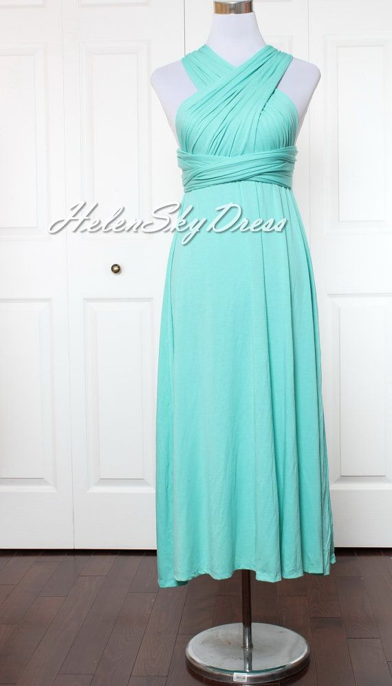 Turquoise green mint Bridesmaid Dress Wrap by HelenSkyDress  they have tons of other colors!