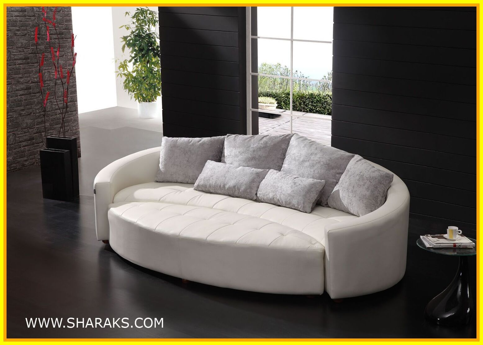 50 Reference Of Small Curved Sofa With Ottoman In 2020 Round Couch Round Sofa Small Curved Sofa