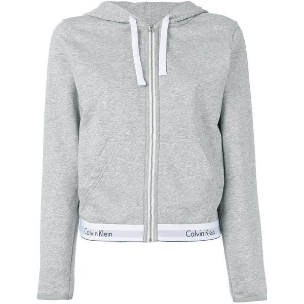 Calvin Klein Jeans Logo Band Zipped Hoodie 95 Aud Liked On Polyvore Featuring Tops Hoodies Grey Calvin Klein Jacke Tumblr Kleidung Calvin Klein Kleidung