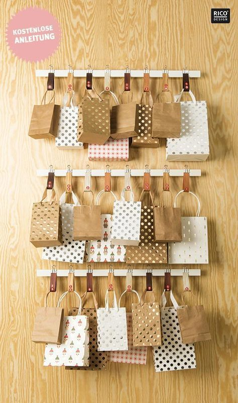 Last Minute Advent Calendar: Little Shopping Bags | PlusPerfekt Christmas Mood #adventkalenderbasteln