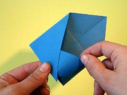Bevorzugt Einen Briefumschlag falten - Origami ohne Schneiden oder Kleben KA88