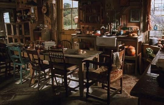 I love the Weasleys' house in Harry Potter