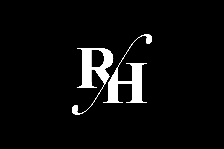 RH Monogram Logo Design By Vectorseller