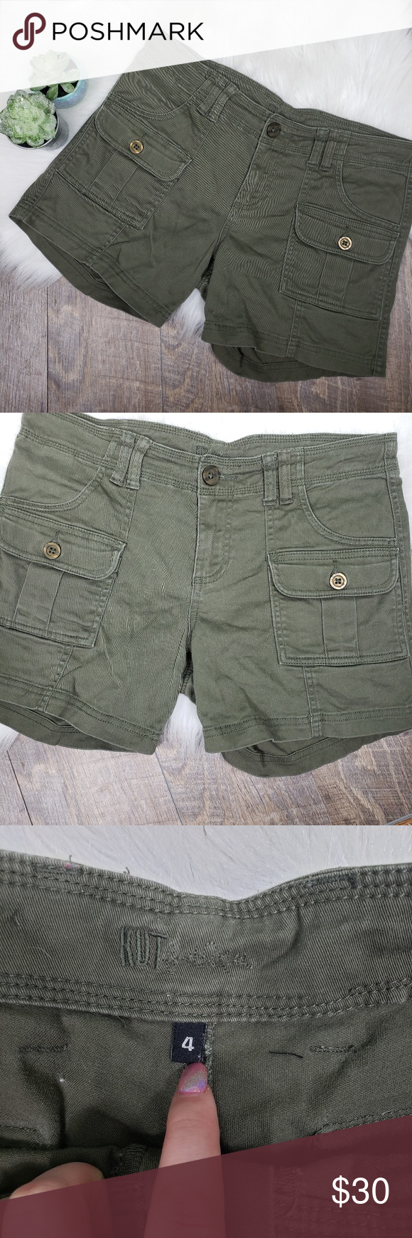 cffad590b8 Kut from the kloth cargo shorts Excellent condition. Cargo shorts. Army  green. Size
