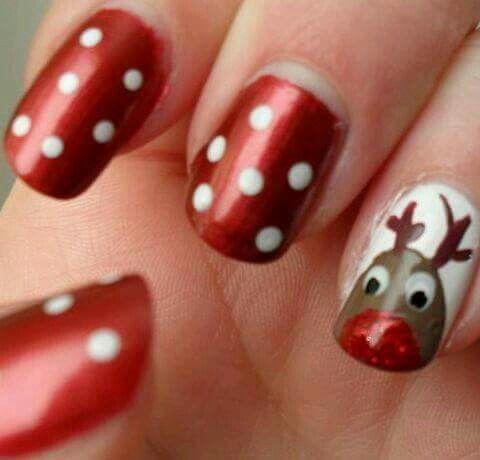 bad nail job with reindeer