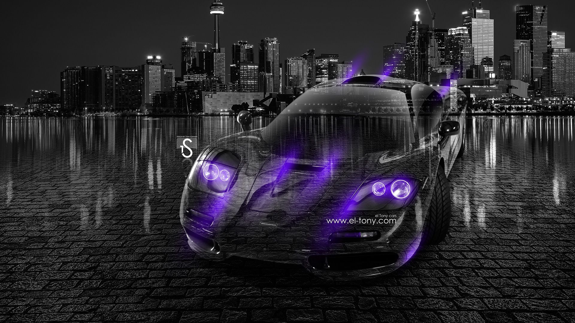 McLaren F1 Crystal City Car 2013 Violet Neon