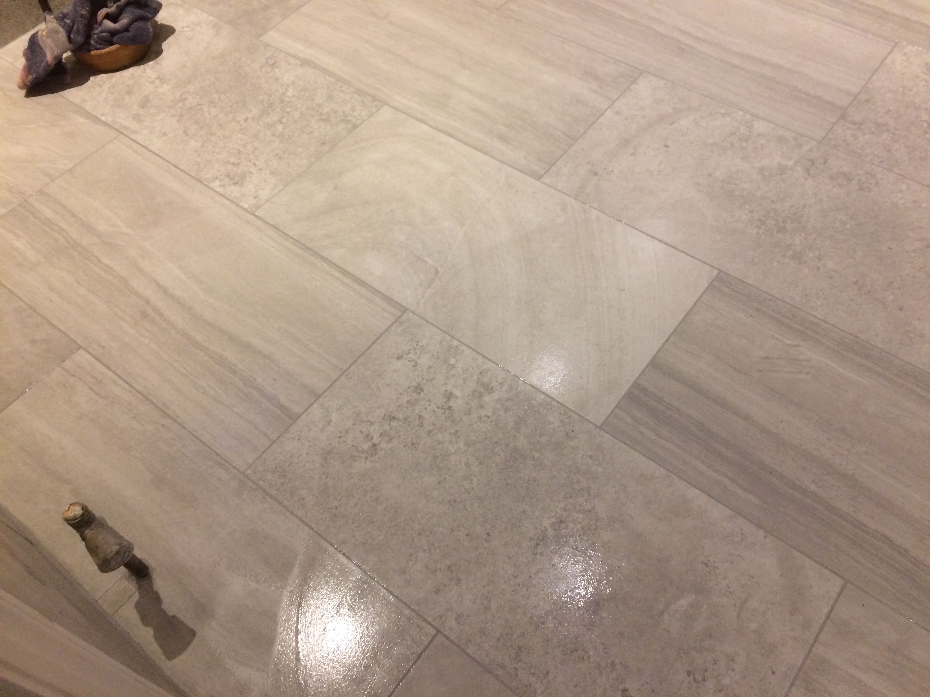 Bathroom Floor Tiling In Diss Norfolk These Floor Tiles My Customer Purchased Are A 300 X 600 Porcelain Ti Tile Floor Bathroom Floor Tiles Bathroom Flooring