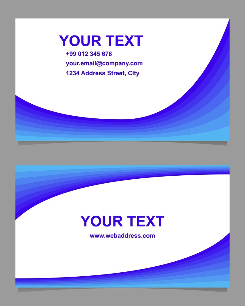 14x2 Curved Design Business Card Templates Eps Ai Jpg 5000x5000 Businesscard Businessca Curve Design Business Card Design Business Card Template Design