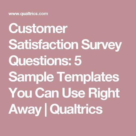 Customer Satisfaction Survey Questions 5 Sample Templates You Can - customer satisfaction survey template
