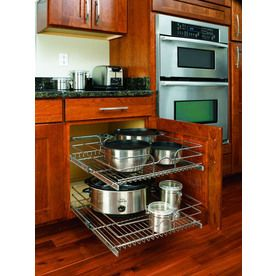 cabinet kitchen pull cabinets basket fittings shelf metal base tier rev discover drawers bins