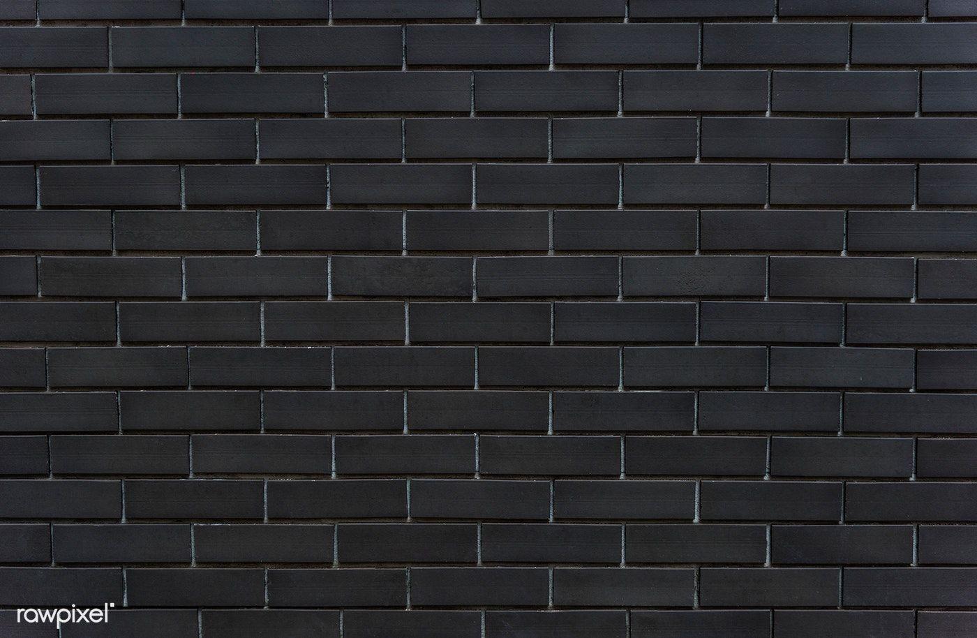 Download Premium Image Of Black Brick Wall Textured Background 514203 Black Brick Wall Black Brick Brick Wall Wallpaper