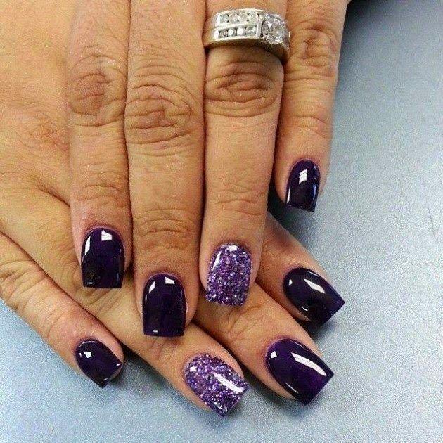 Dark Purple Nail Ideas for teens 2016 | Stud Nails | Pinterest ...