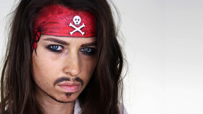 Jack Sparrow Makeup Tutorial Photo makeup, Pirate hair