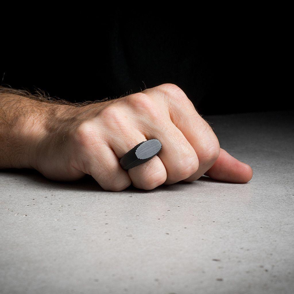 Relief Cut Ring (Men) by 13&9 Design on http://adornmilk.com