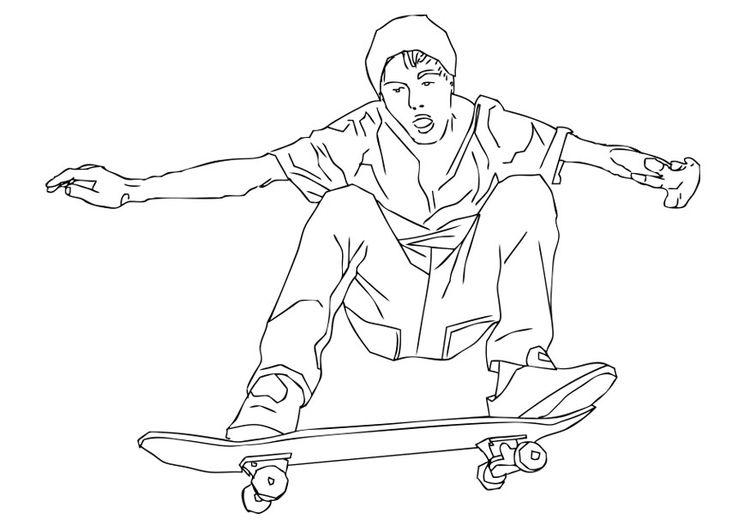 Dibujo Para Colorear Skate Ilustracion Imagenes Para Escuelas Y Educacion Skate Img 28719 Dibujos Para Colorear Paginas Para Colorear Skate Dibujo