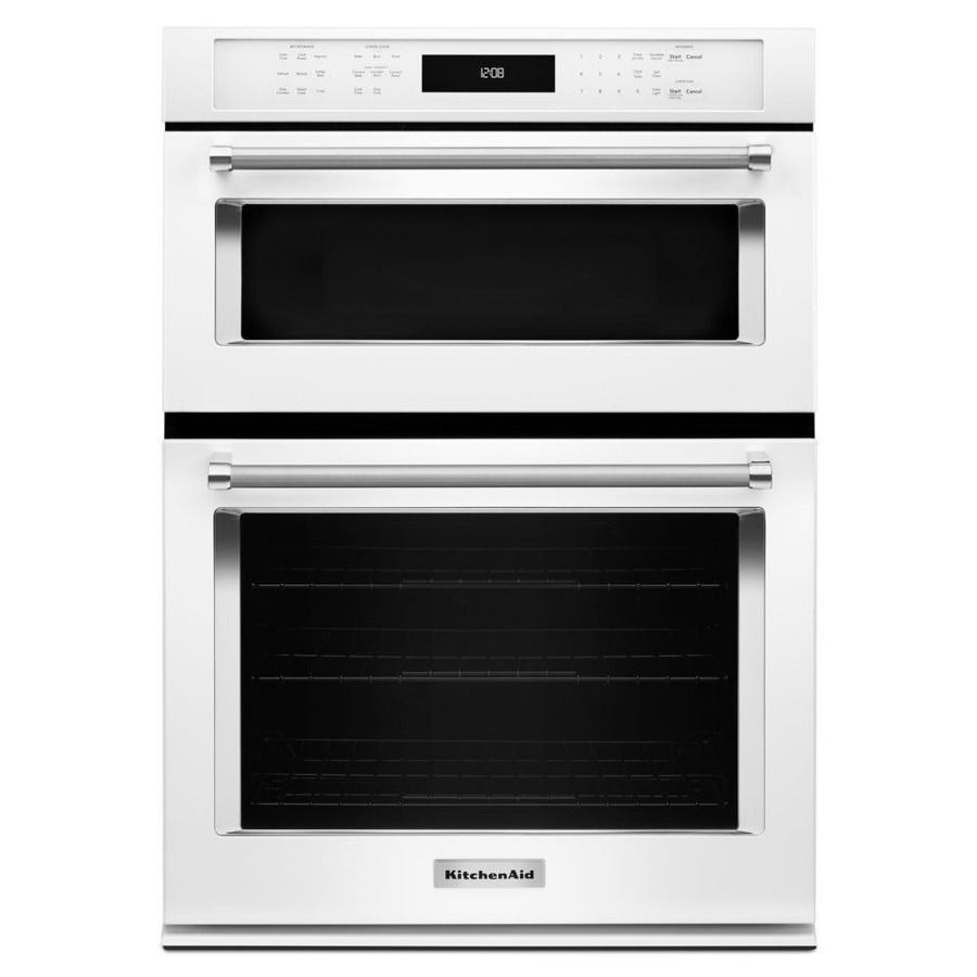 Kitchenaid Self Cleaning Microwave Convection Wall Oven Combo Common 30 In