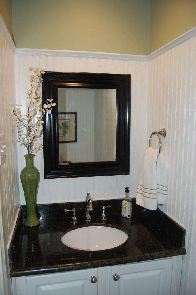 10 Rooms Featuring Beadboard Paneling: Classic Style Home: My Beadboard Powder Room