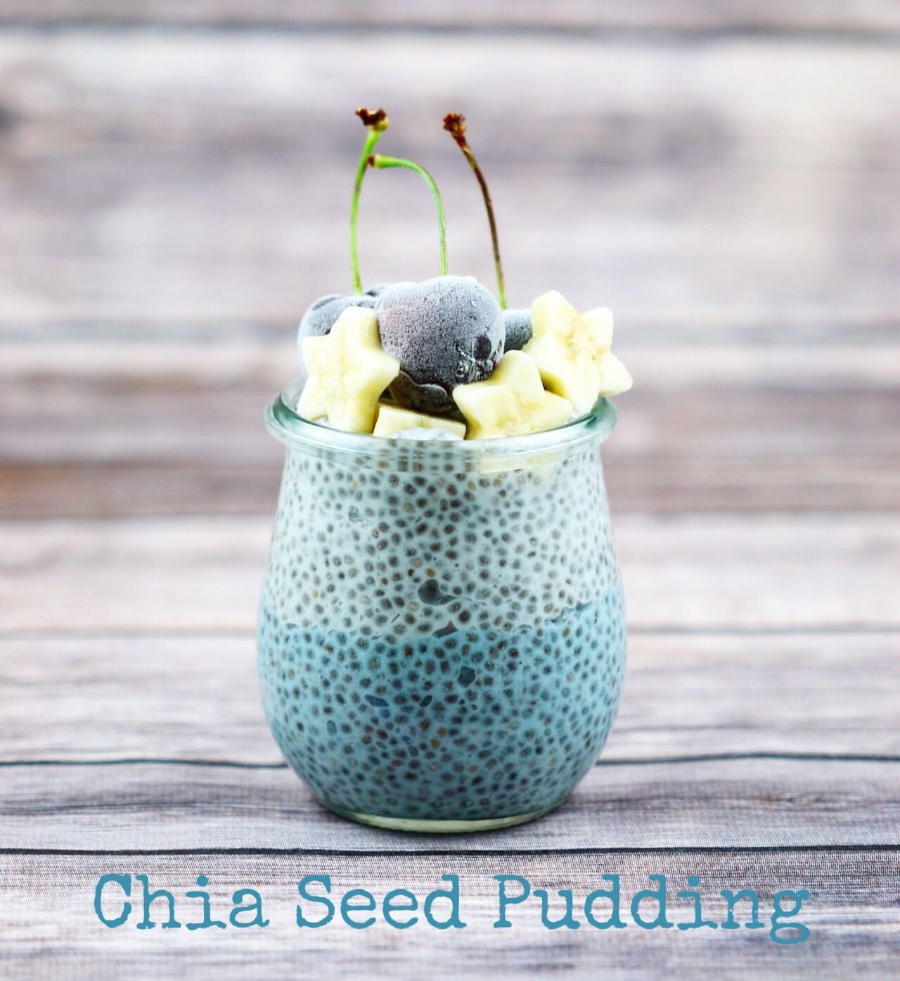 Colorful chia pudding made with natural vegetable based food dye ...