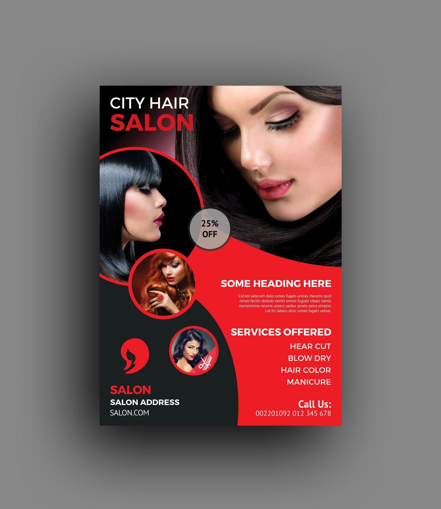 Elegant Hair Salon Flyer Template In 2020 Hair Salon Beauty Salon Posters Beauty Flyer Ideas