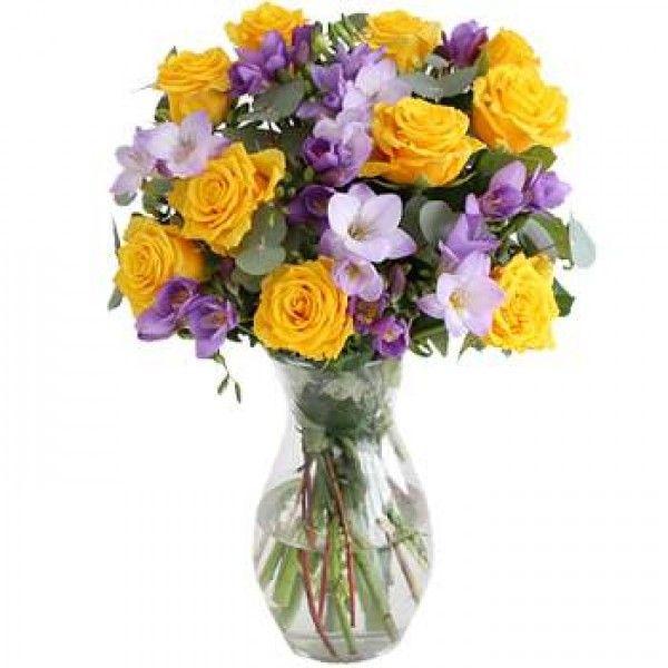 Rose Freesia Bouquet Beautiful Bouquet Of Flowers Purple Flower Bouquet Flower Delivery