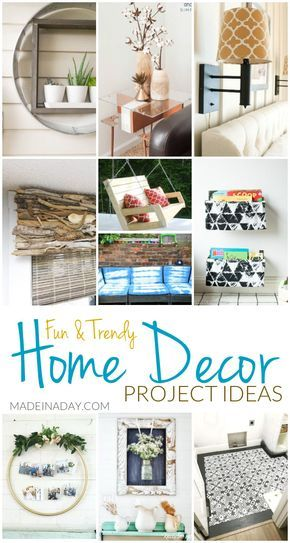 Fun Trendy Home Decor Project Ideas Decorating Cheap