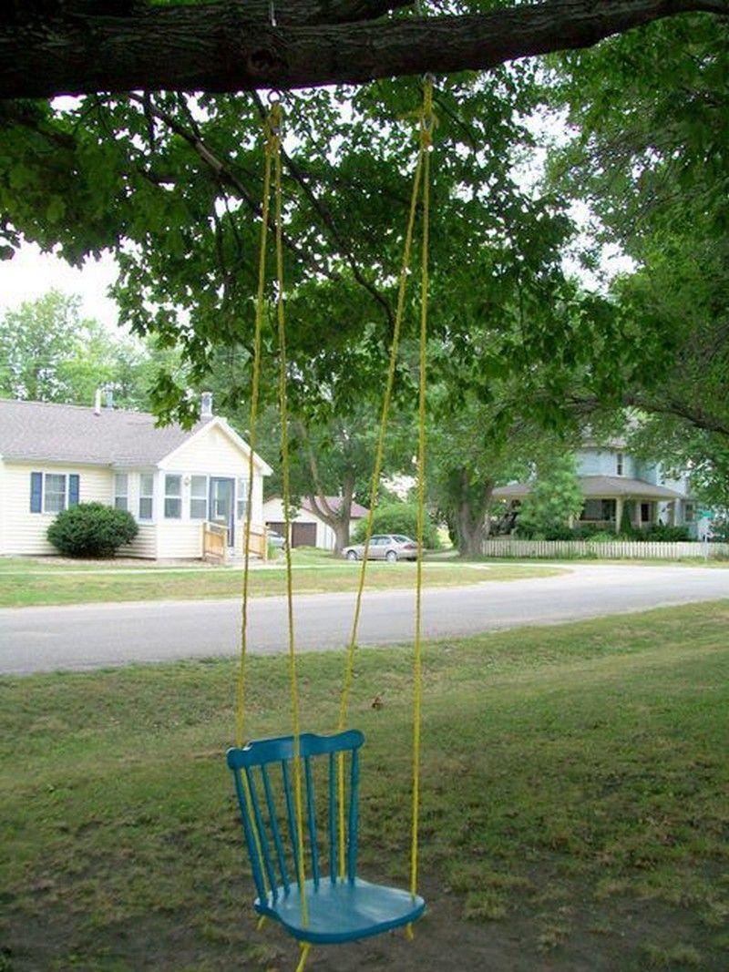 Diy Chair Tree Swing Diy Swing Swinging Chair Backyard