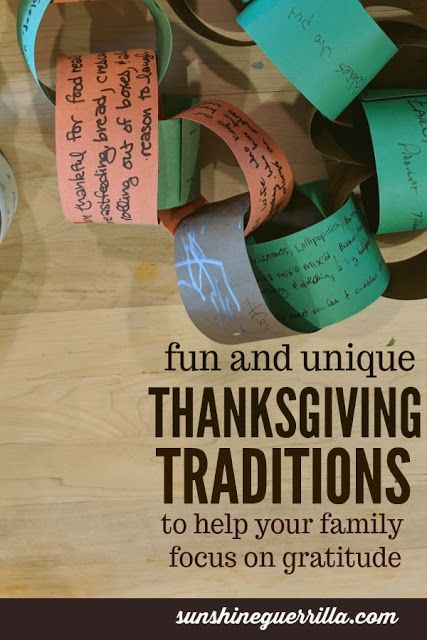 Sunshine Guerrilla: Twelve Thanksgiving Traditions to Help Us Focus on Gratitude