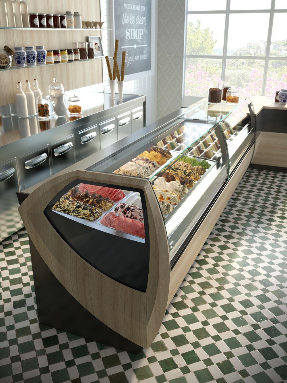 rendering per l 39 arredamento di bar gelaterie e