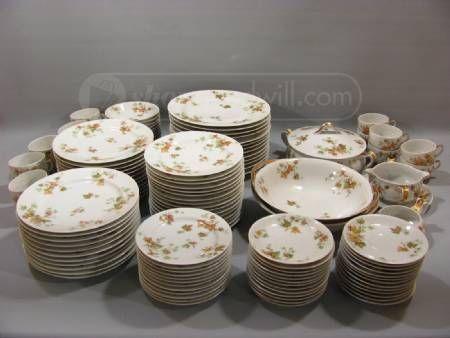 Autumn Themed Limoges Gold Tone Dishware-We had dishware similar (if ...