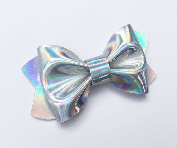 Mirror Holographic Fabric Sheet Pink Silver Turquoise Bow Making