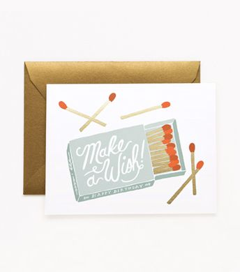 Rifle Paper Co. Make A Wish Birthday Card #riflepaper #birthdaycard #makeawish