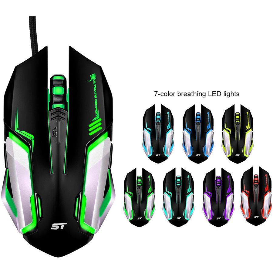 PC MAC Linux Gaming Mouse SOWTECH USB Wired Gamer Mice ACC Optical
